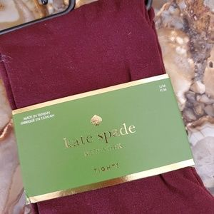 Kate Spade Burgendy Tights Size S/M